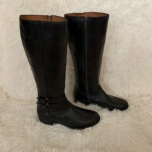 Frye Tall Womens Black Leather Boots